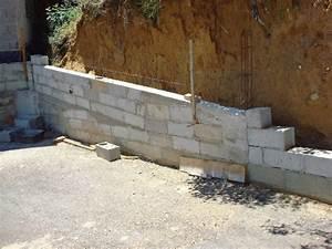 Fondation Mur Parpaing : fondation l g rement en pente pour muret ~ Premium-room.com Idées de Décoration