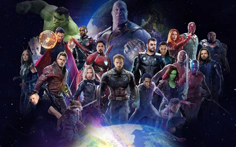 avengers infinity war   characters poster