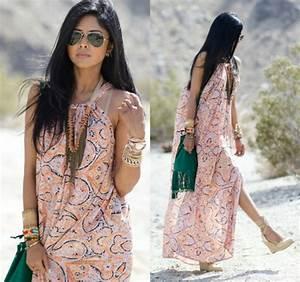 Robe Style Boheme : robe longue hippie boheme ~ Dallasstarsshop.com Idées de Décoration