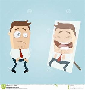 Cartoon man in mirror stock vector. Illustration of ...