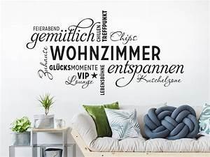 Wandtattoo Wohnzimmer Wortwolke Von KLEBEHELDDE