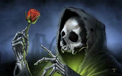Death Skull Dark Rose Wallpapers Desktop Backgrounds