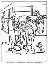 Horse Coloring Pages Farm Horses Paarden Kleurplaat Kleurplaten Paard Barn Camp Animated Ranch Worksheets Theme Preschool Riding Van Pony Bathing sketch template