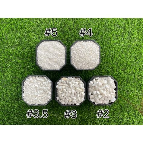 หินเกล็ดขาว ตกแต่งสวน หินโรยหน้ากระถาง หินจัดสวนถาด หินใส่ ...