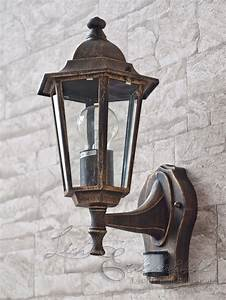 Bewegungsmelder Mit Licht : edle wandleuchte f r aussen mit bewegungsmelder antik ~ Michelbontemps.com Haus und Dekorationen