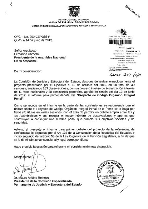 Informe primer debate proyecto código integral penal by