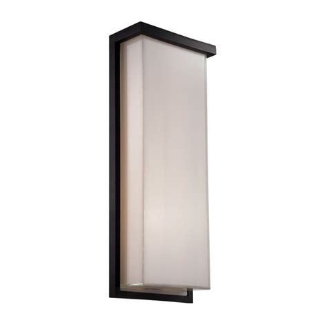 modern forms exterior lighting modern forms ws w1420 bk black ledge 1 light led ada