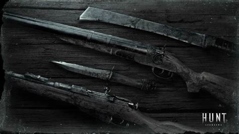 showdown hunt wallpapers weapons weapon desk huntshowdown game guide hd hunter screenshots