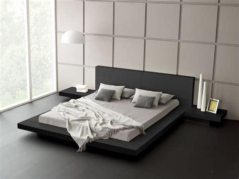 modern style bedding modern platform bed wood leather design trends4us com