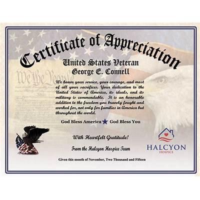 Explore veterans appreciation certificates todays homepage sample certificate of appreciation for parents image yelopaper Gallery