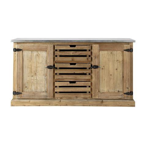 buffet cuisine en bois buffet en bois recyclé l 160 cm pagnol maisons du monde