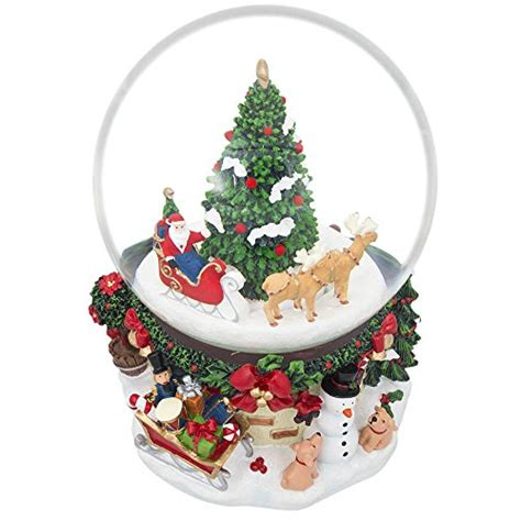 7 quot animated rotating santa claus on reindeer sleigh by