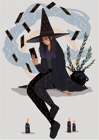Witch Drawings Witches Aesthetic Witchy Drawing Modern