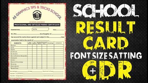 coreldraw tutorial school result card design  cdr