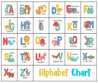 Alphabet Chart Printable Kindergarten Printablee Abc Preschool