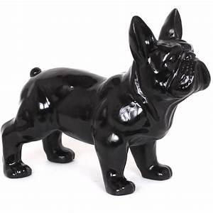 Statue Chien Design : statue chien bouledogue fran ais noir en r sine 45 cm ~ Teatrodelosmanantiales.com Idées de Décoration
