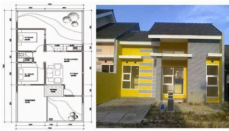 desain rumah minimalis  lantai  denah gambar foto