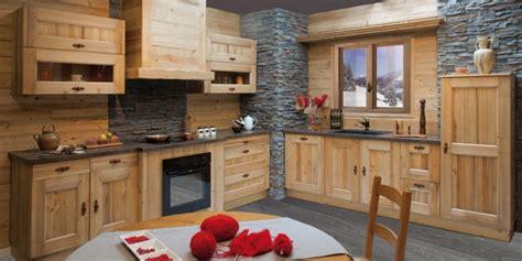 cuisines rustiques bois modele de cuisine en bois massif mzaol com
