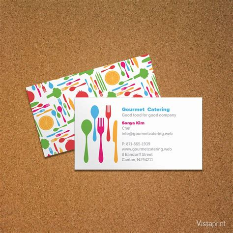 vistaprint business card layout personal chef business card vistaprint cooking in