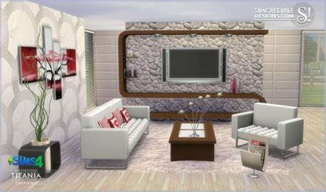 simcredible designs titania livingroom set � sims 4 downloads