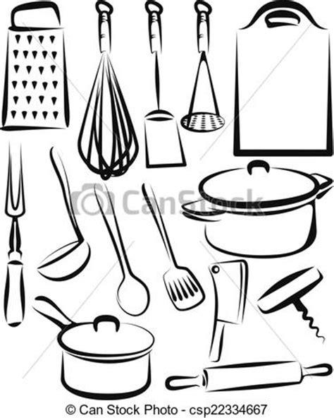 dessin d ustensiles de cuisine clip vecteur de ustensile ensemble illustration
