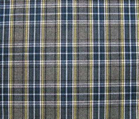 Blue Plaid Upholstery Fabric by Blue Gray Plaid Fabric Upholstery Home Decorating Crafts