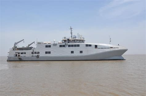 Catamaran Ship Navy by Ins Makar Indigenous Catamaran Survey Ship Indian