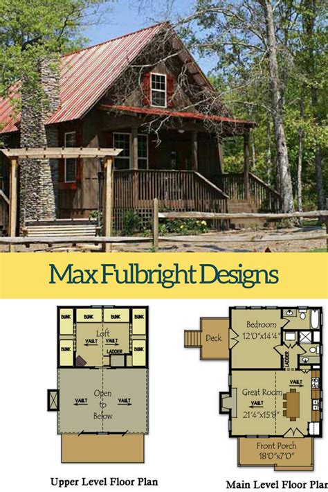 Small Cabin Plan with loft Small cabin plans Cabin