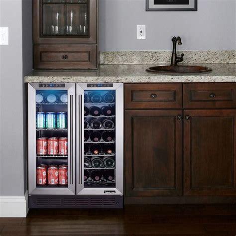 wine beverage cooler coolers chef magic depot bottle built zone dual fridge door refrigerator drinks kitchen center bars undercounter cabinets