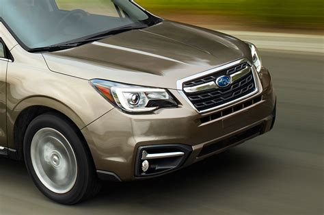 subaru forester 2017 black 2017 subaru forester refresh brings more driver assist tech