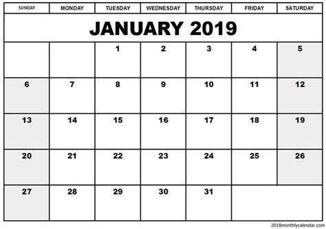 blank january calendar template january januarycalendar
