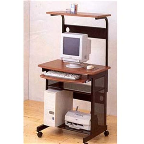easy to assemble desk computer carts walnut and black computer desk 7121 co