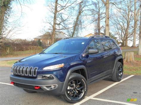 jeep trailhawk blue 2016 true blue pearl jeep cherokee trailhawk 4x4