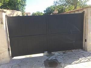 Installer Un Portail : installation d un portail battant a deux vantaux aluminium ~ Premium-room.com Idées de Décoration