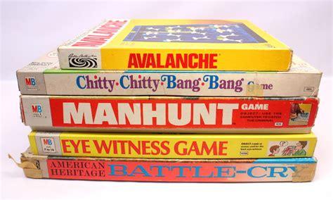 vintage board game lot avalanche chitty bang manhunt eye
