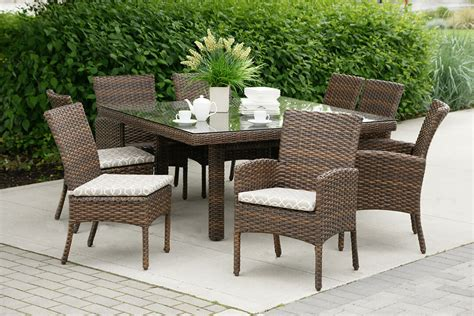plastic patio furniture resin wicker dining tropicraft patio furniture