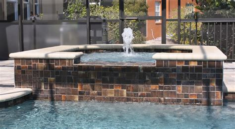 spa construction tropical pools  pavers