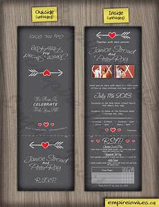 custom heart wedding invitations canada empire invites With tri fold wedding invitations canada