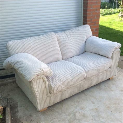 scs settees sofa bed settee beige two seater clean scs in