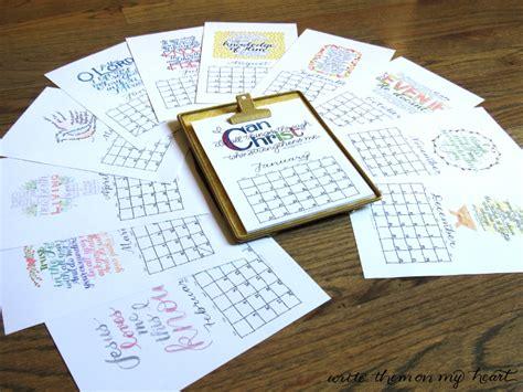 christian printable wall calendars write heart
