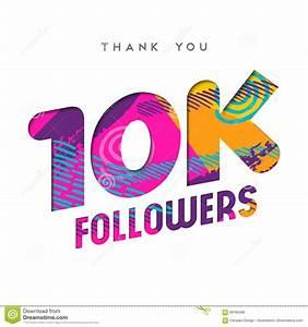 10k Internet Follower Number Thank You Template Stock ...  10k