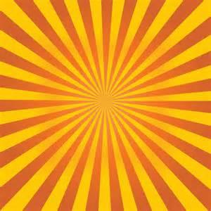 Orange Sunburst Background Vector