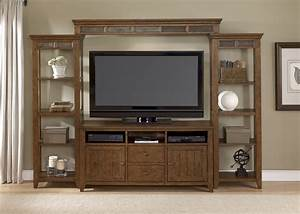 liberty hearthstone entertainment wall set in rustic oak With cheap rustic entertainment center
