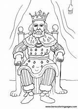 Coloring King Rey El Trono Para Mermaids Cartoon Disney Fairies Crafts Imprimir sketch template