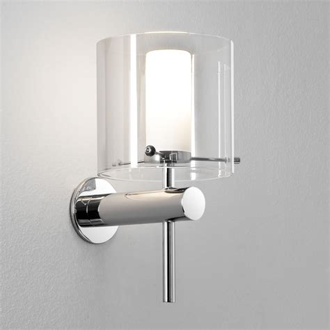 astro lighting 0342 arezzo ip44 bathroom wall light in polished chrome