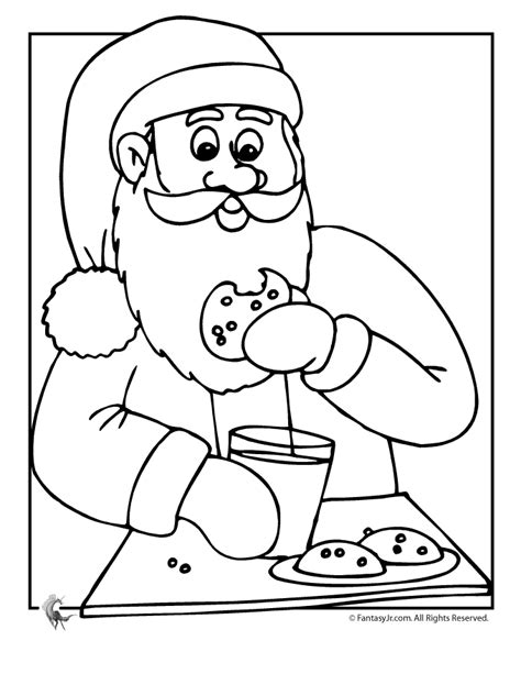 Free printable christmas find and colour activity. Santa and Christmas Cookies Coloring Page - Woo! Jr. Kids ...