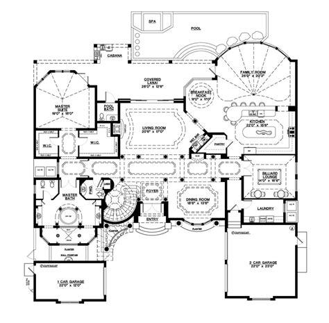 5 bedroom floor plans mediterranean style house plan 5 beds 5 5 baths 6045 sq