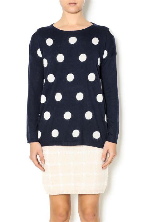polka dot sweater babel fair navy polka dot sweater from williamsburg by