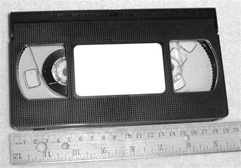 Vhs Cassette - file vhs cassette with ruler jpg wikimedia commons