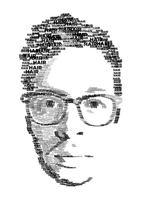 typographic self portrait on behance